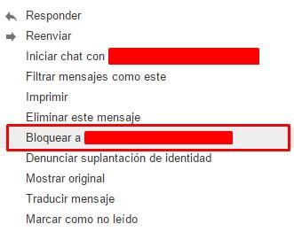 Cómo bloquear a un usuario de spam en el correo