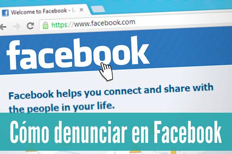 Pasos para denunciar cuentas de Facebook